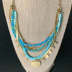 Jewelry - Stella & Dot gold & turquoise versatile necklace